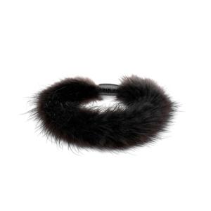 Fellarmband schwarz