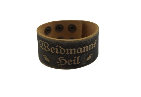 weidmannsheil_armband_leder_jagd_braun_wild_wildes