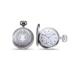 Taschenuhr aus Stahl mit Chronograph