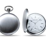 Taschenuhr aus Silber matt