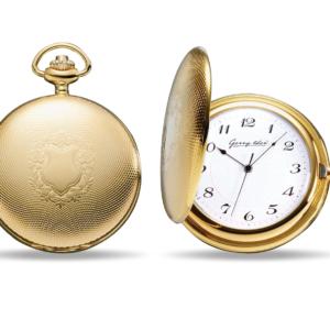 Taschenuhr verchromt in Gold