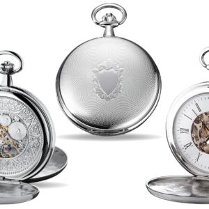 Taschenuhr mit sichtbarem Uhrwerk